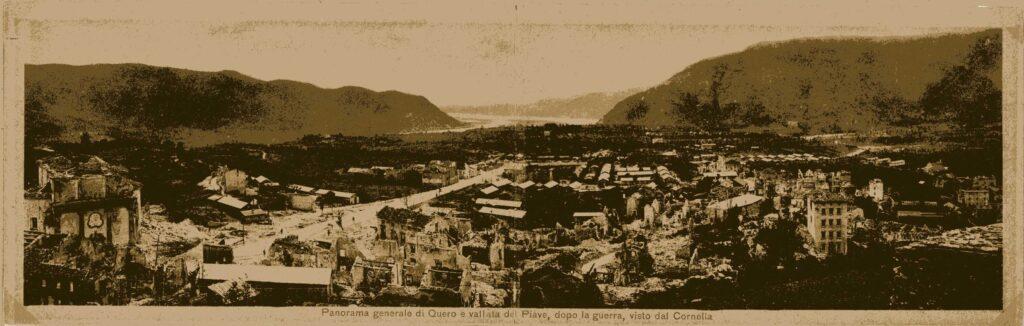 Avanzata austro-tedesca in direzione del Monte Fontana Secca e occupazione di Quero.